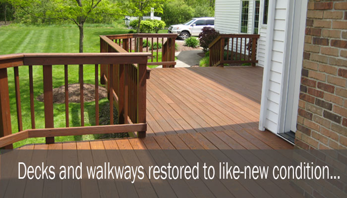 Decks restored to like-nw condition